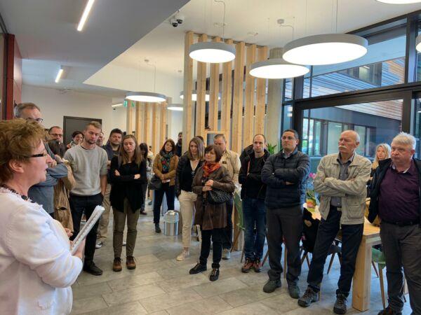 Studentenwohnheim Mineroom in Leoben als Ausflugsziel für slowenische Delegation