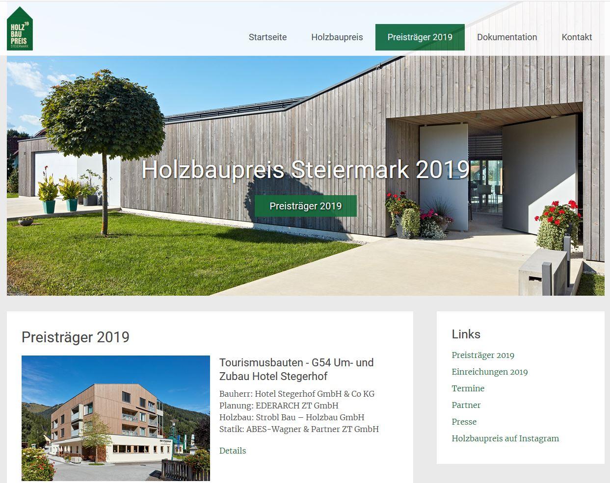 Website des Holzbaupreises